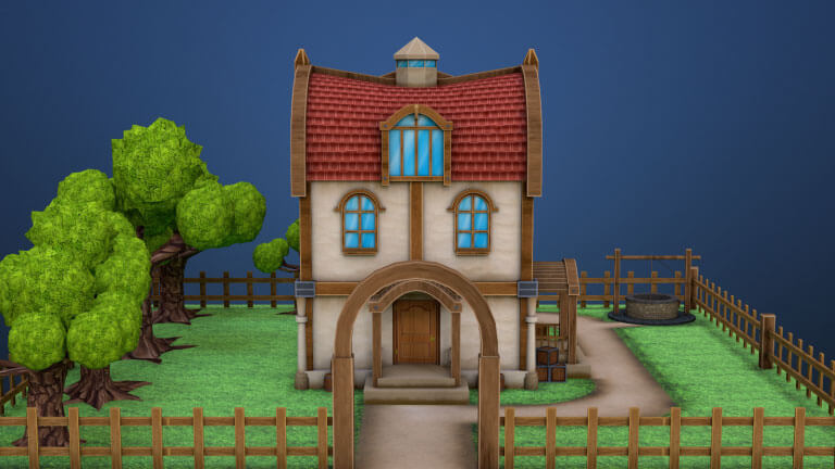 Low Poly Game House